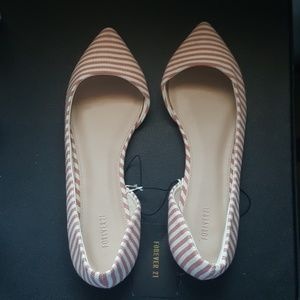 FOREVER 21 SIZE 8 1/2 STRIPED FLATS